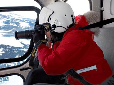 Tuft shooting in Antarctica